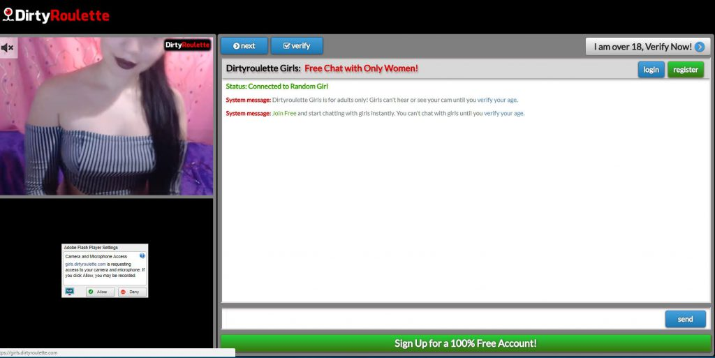DirtyRoulette - Adult Video Chat Site